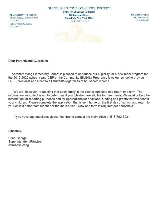 CEP Letter